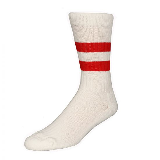 Norse Project Bjarki Sports Socks N95 0722 5055 In Cream / Coral Red