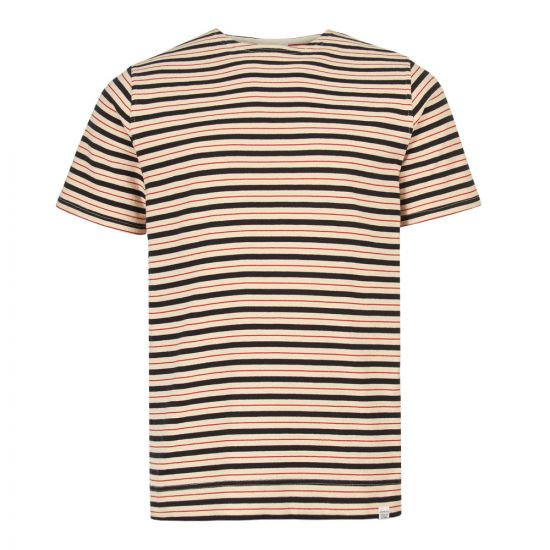 norse projects t-shirt godtfred N01 0445 4037 red/white/navy