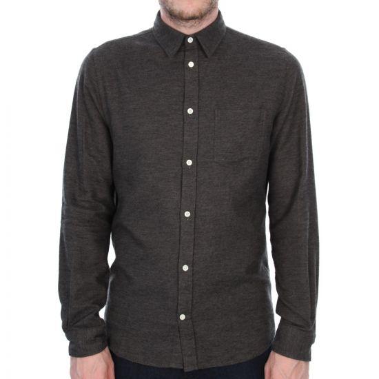 Anton Brushed Shirt - Rosin Green