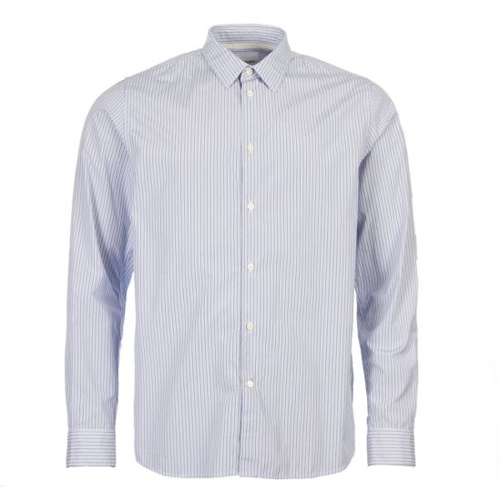 norse projects shirt hans N40 0489 7178 blue stripe