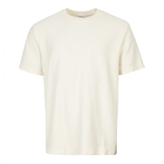 Norse Projects T-Shirt Johannes Textured N01 0449 0957 Ecru