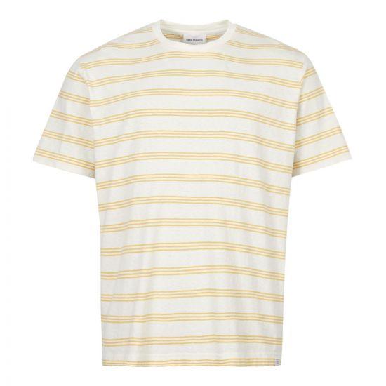 Norse Projects T-Shirt Johannes   N01 0457 3037 Sunrise Yellow Stripe