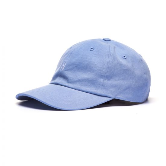 Norse Projects Twill Sports Cap, N80 0001 7159 Clouded Blue, Aphrodite 1994