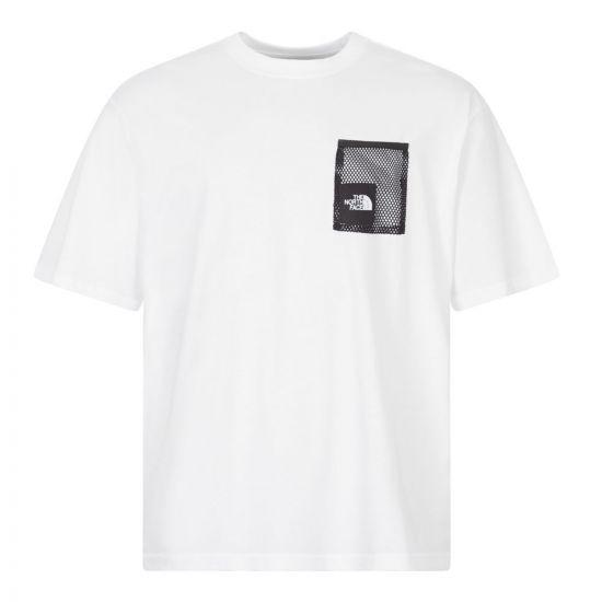 North Face T-Shirt Black Box | NF0A557KFN4 White | Aphrodite