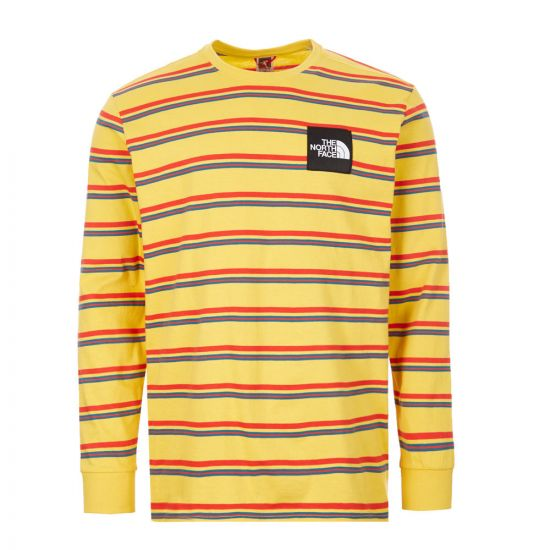 The North Face Long Sleeve T Shirt Bamboo Yellow Stripe NF0A4C9INU4