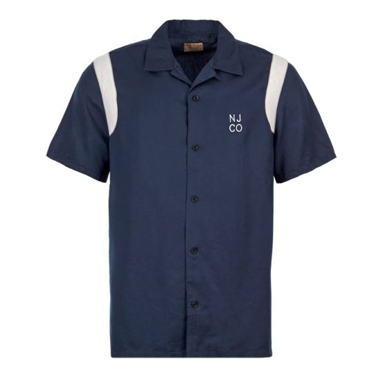Nudie Jeans Shirt Bowling Jack |  140598 NIGHT Blue