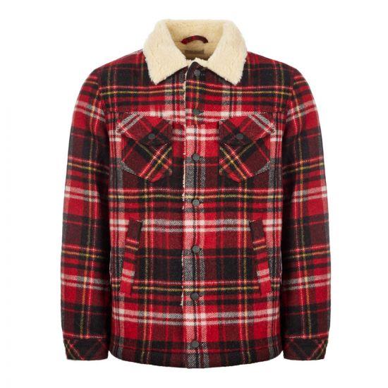 Nudie Jeans Jacket   160652 Plaid Red Alert