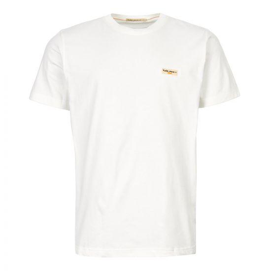 Nudie Jeans Daniel Logo T-Shirt   131613 OFF WHT Off White