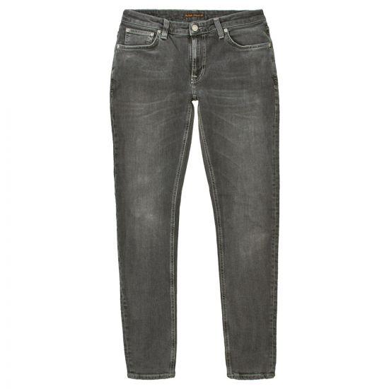 nudie jeans skinny lin 112856 shimmering grey