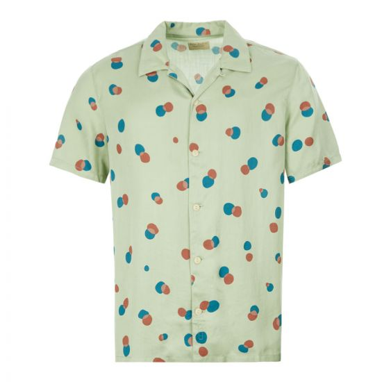 Nudie Jeans Shirt Arvid Dots - Pale Green 21920CP -1