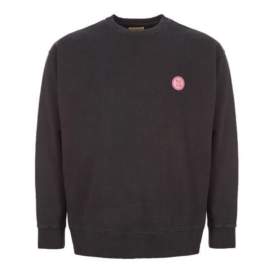 Nudie Jeans Sweatshirt Lukas 150422|BLK Black At Aphrodite Clothing