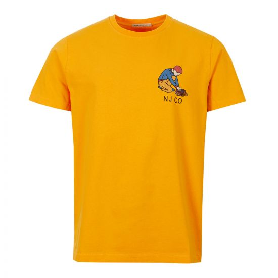 Nudie Jeans T-Shirt Roy Logo 131672 Yellow
