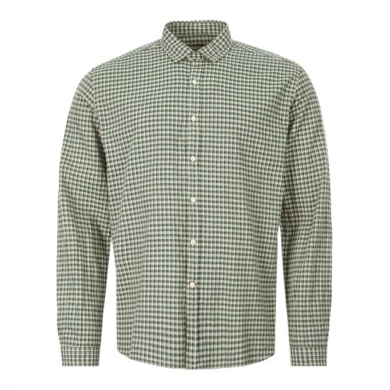 Oliver Spencer Shirt Clerkenwell Tab - Green 21955CP -1