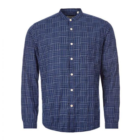 Oliver Spencer Shirt Grandad - Navy 21954CP -1