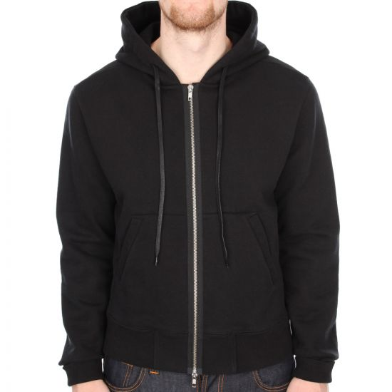 Our Legacy Heavy Brushed Full Zip Hoody in Black
