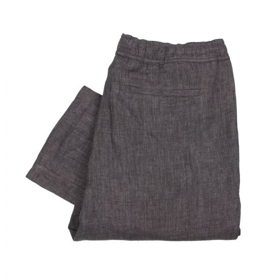 Our Legacy Relaxed Linen Trousers in Charcoal