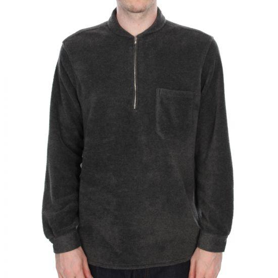 Our Legacy Shawl Zip Shirt in Charcoal Fleece