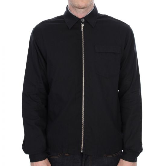 Our Legacy Short Zip Shirt in Navy