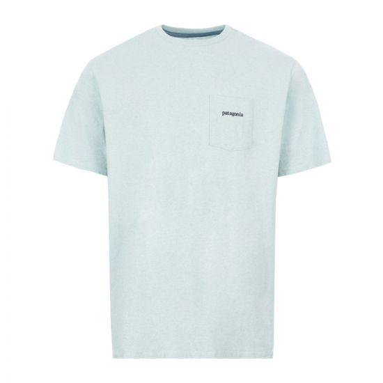 Patagonia T-Shirt Ridge Logo Pocket Responsibili - Blue 21939CP -1