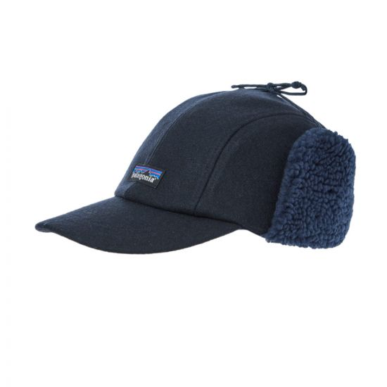 Patagonia Wool Ear Flap Cap 22325|CNY In Navy At Aphrodite Clothing