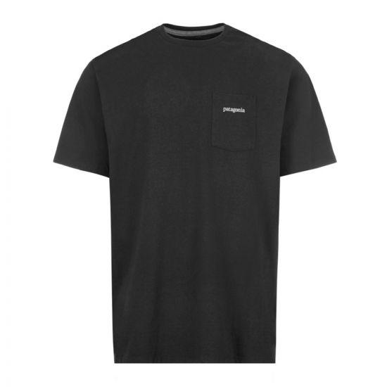 Patagonia T-Shirt Ridge Logo Pocket Responsibili - Black 21862CP -1