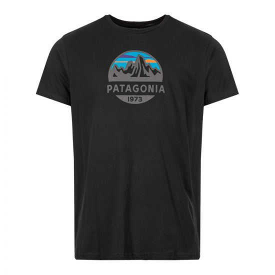 Patagonia T-Shirt Fitz Roy Scope 39144|BLK In Black At Aphrodite Clothing