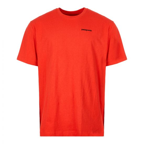 Patagonia P6 Logo T-Shirt 39174|FRE In Fire Red At Aphrodite Clothing