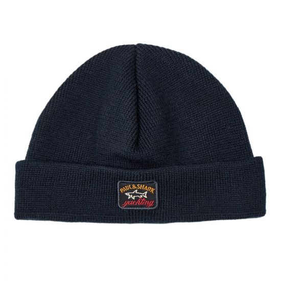 Paul and Shark Knitted Hat COP1058 050 Navy