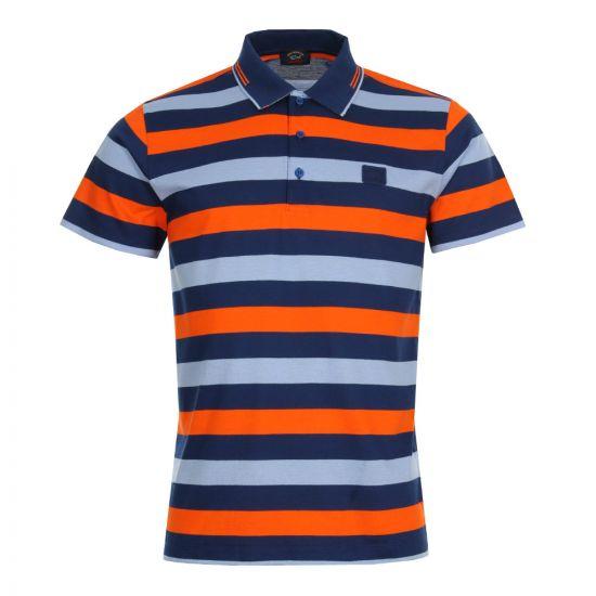 Paul & Shark Polo Shirt   Navy / Orange A18P1721SF213