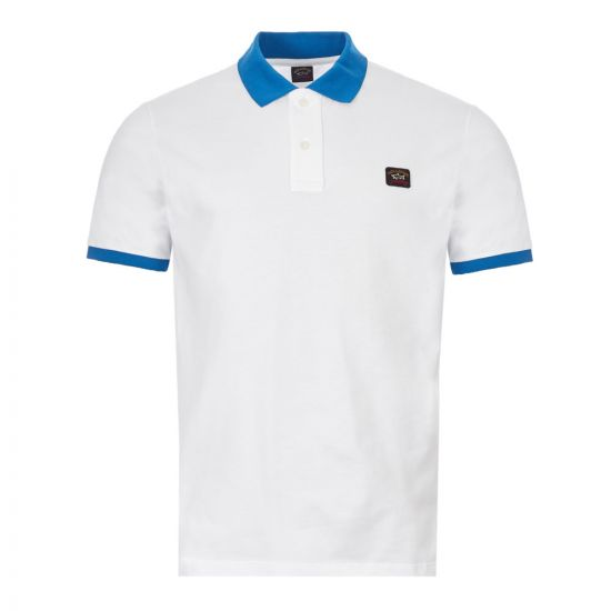 Paul and Shark Polo Shirt A19P1759I|010 In White At Aphrodite Clothing