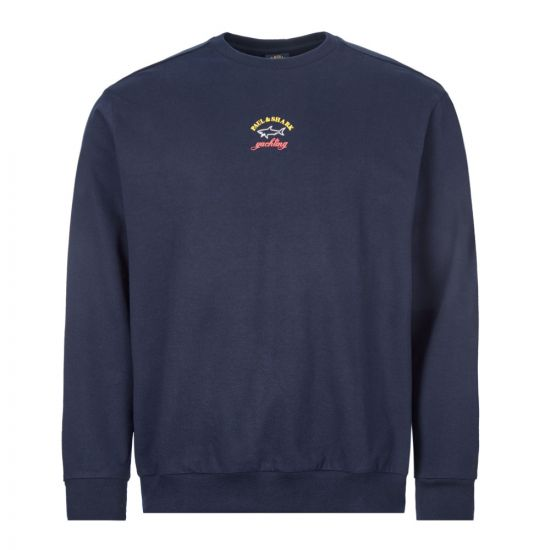 paul and shark sweatshirt | PDSP20P1530 13 navy
