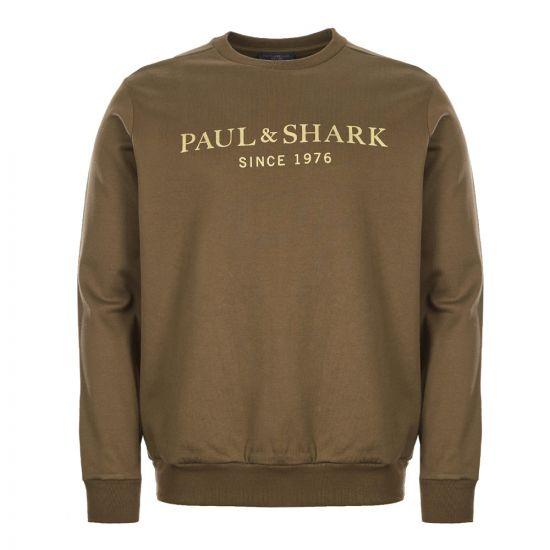 Paul and Shark Sweatshirt | A19P1829|209 Olive