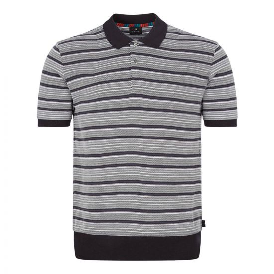 Paul Smith Polo Shirt Stripe Slate M2R 955T A20865 76