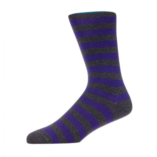 Paul Smith Accessories 2 Pack Socks – Grey / Purple 21476CP 0