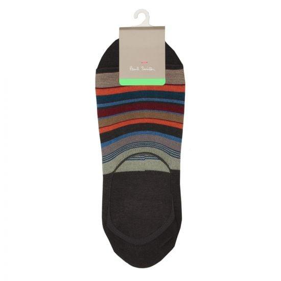 Paul Smith Bold Stripe Loafer Socks in Grey