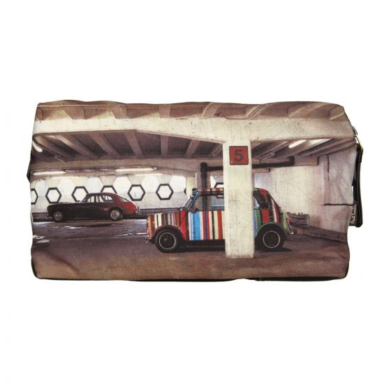 Paul Smith Accessories Wash Bag in Car Park Print