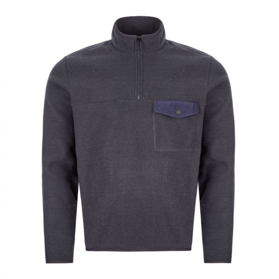 Paul Smith Half-Zip Sweatshirt - Navy 21282CP -7