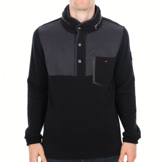 Paul Smith Jeans Button Sweater in Black