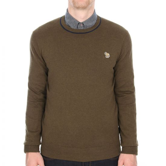 Crew Neck Jumper - Khaki
