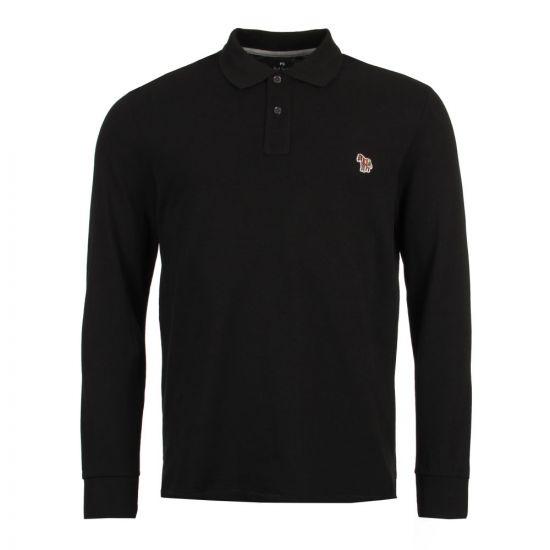 Paul Smith Long Sleeve Zebra Polo Shirt PTXD 115L 923Z Black