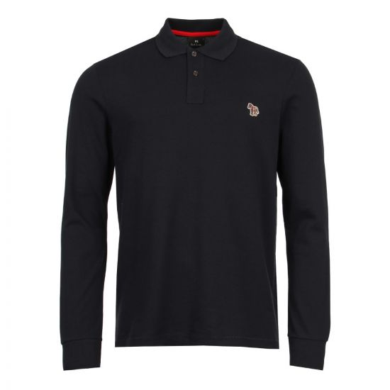 Paul Smith Long Sleeve Zebra Polo 115L AZEBRA 49 In Navy