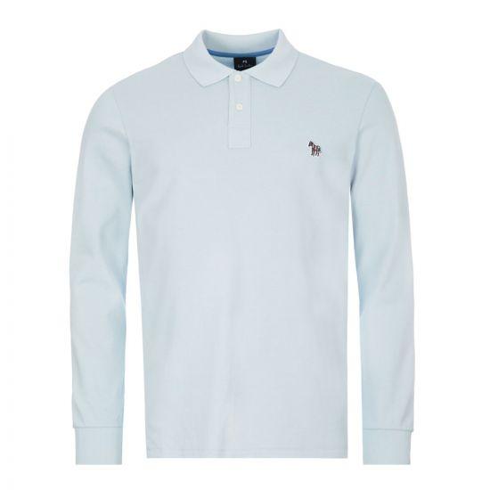 paul smith long sleeve polo shirt | M2R 115LZ D20067 40A blue