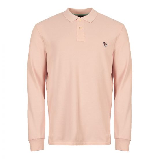 paul smith long sleeve polo shirt M2R 115L B20067 20 pink