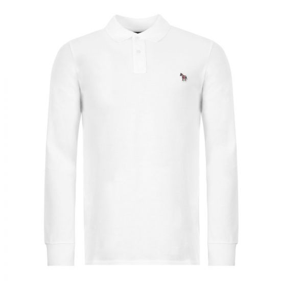 Paul Smith Long Sleeve Zebra Polo 115L AZEBRA 01 White
