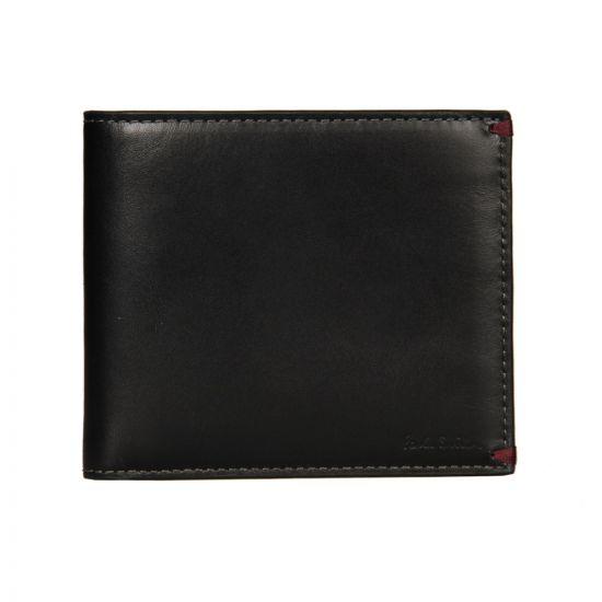 Paul Smith Accessories Billfold Wallet in Black Mini Print