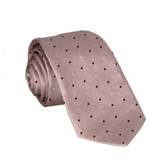 Paul Smith Narrow Spot Tie in Pink.