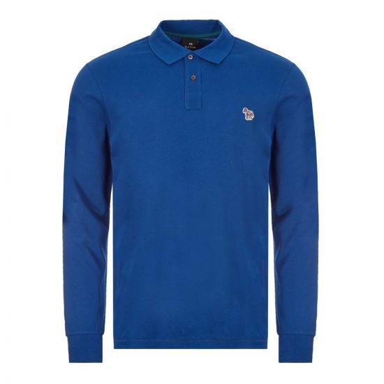 Paul Smith Long Sleeve Zebra Polo Shirt | M2R 115LZ E20067 47A Blue