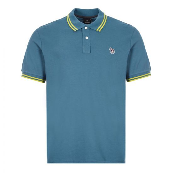 Paul Smith Zebra Polo Shirt | M2R 183KZ E20068 Teal