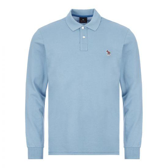 Paul Smith Long Sleeve Zebra Polo Shirt   M2R 115LZ E20067 Light Blue