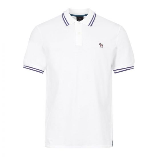 Paul Smith Zebra Polo Shirt | M2R 183KZ E20068 01 White / Purple
